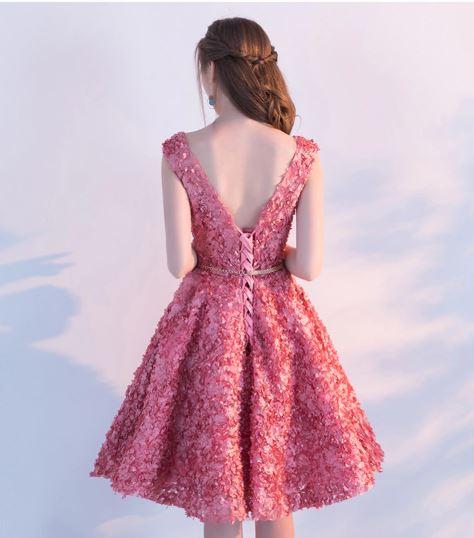 best women apparels prom dresses pink 5