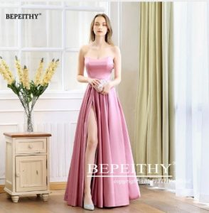 best women apparels prom dresses pink gown