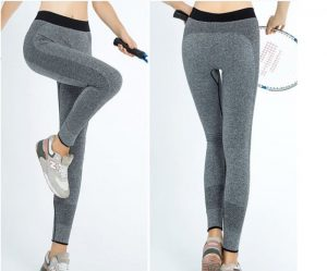 training yoga pants grey