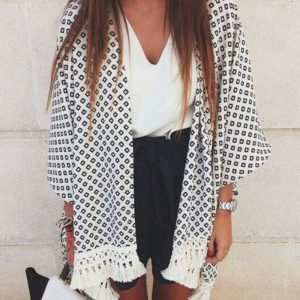 black white cardigan